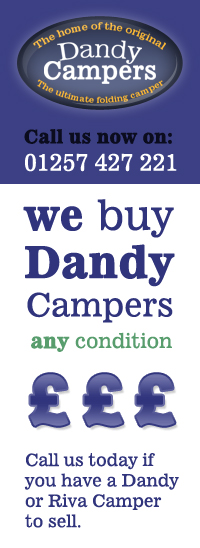 We Buy Dandy Campers, any condition, call us today
